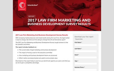 Screenshot of Landing Page lexisnexis.com - InterAction® BD Survey Report - captured April 25, 2018