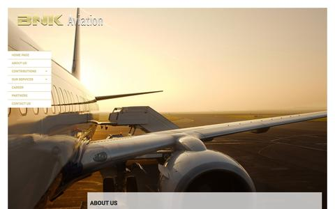 Screenshot of About Page bnkaviation.com - BNK Aviation - captured July 27, 2016