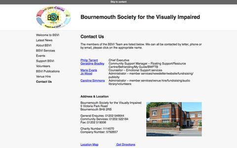 Screenshot of Contact Page bsvi.org.uk - Contact Us – BSVI - captured Oct. 5, 2014