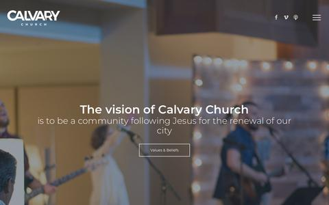 Screenshot of About Page calvarypalisades.org - About – Calvary Church - captured Sept. 26, 2018