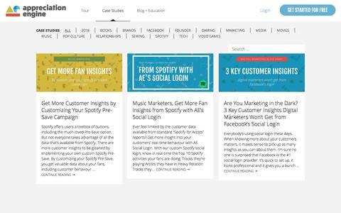 Screenshot of Case Studies Page theappreciationengine.com - Case Studies - Appreciation Engine - captured Feb. 11, 2018