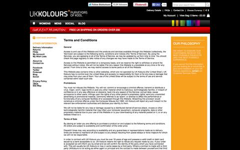 Screenshot of Terms Page ukkolours.com - UK Kolours - Terms and Conditions - captured Sept. 30, 2014