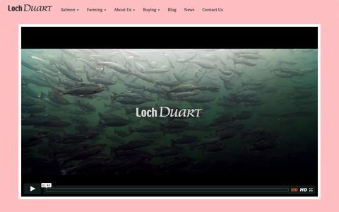 Screenshot of Home Page lochduart.com - Loch Duart - captured Jan. 31, 2016