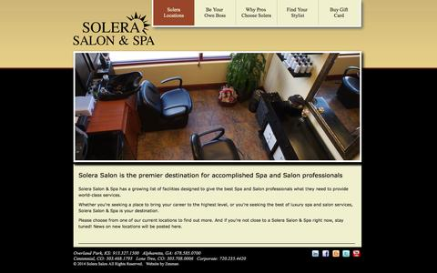 Screenshot of Locations Page solerasalon.com - Locations   Solera Salon and Spa - captured Oct. 6, 2014