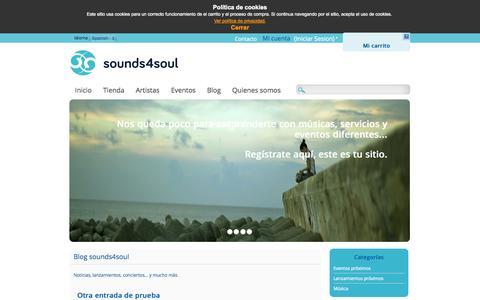 Screenshot of Blog sounds4soul.com - Blog sounds4soul - captured Sept. 30, 2014