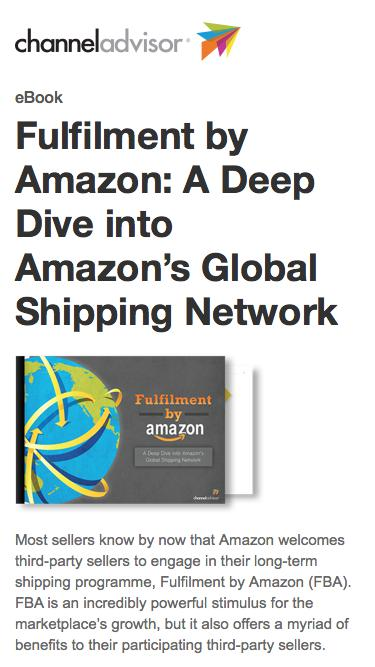 Fulfilment by Amazon: A Deep Dive into Amazon's Global Shipping Network