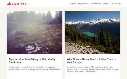 Screenshot of Blog leavetown.com - Blog Articles - captured Sept. 27, 2015