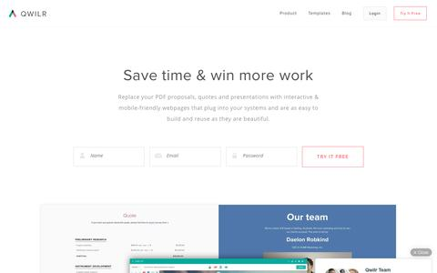 Qwilr: Interactive & mobile-friendly sales documents