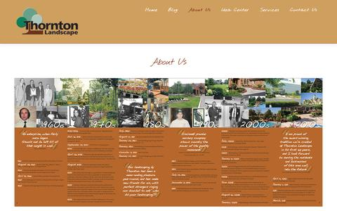 Screenshot of About Page thorntonlandscape.com - About Us - Thornton LandscapeThornton Landscape - captured Sept. 30, 2014