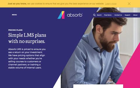 Screenshot of Pricing Page absorblms.com - Pricing - Absorb LMS - captured Jan. 29, 2017