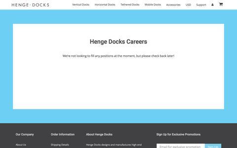 Screenshot of Jobs Page hengedocks.com - Careers – Henge Docks - captured Jan. 6, 2017