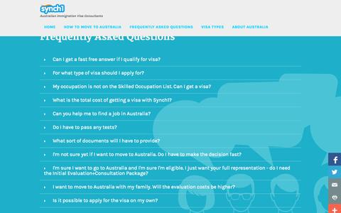 Screenshot of FAQ Page synch1.net captured Sept. 30, 2014