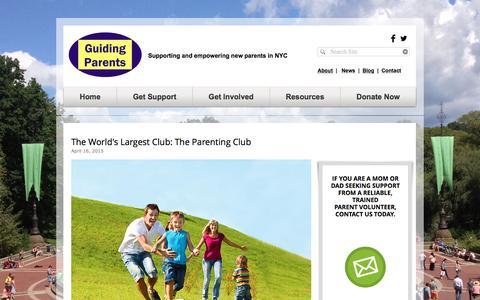 Screenshot of Blog guidingparents.org - Guiding Parents Blog - captured Nov. 16, 2016