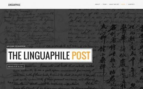 Screenshot of Blog linguaphile.org - The Linguaphile Post - captured Dec. 10, 2015