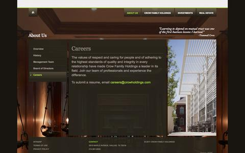 Screenshot of Jobs Page crowholdings.com - Careers | Crow Holdings - captured Sept. 30, 2014