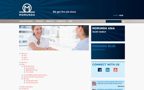 Screenshot of Site Map Page morunda.com - Morunda - Pharmaceutical Executive Search | Sitemap | Morunda - captured Oct. 20, 2018