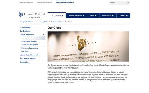 Our Creed at LibertyMutualGroup.com