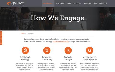 Screenshot of Services Page gotgroove.com - Build, Attract and Convert | Groove: Creative Marketing, Design & Development - captured Oct. 26, 2015