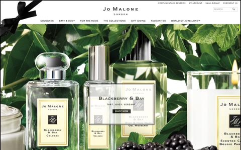 Screenshot of Home Page jomalone.co.uk - Home | Jo Malone London - captured Oct. 8, 2015