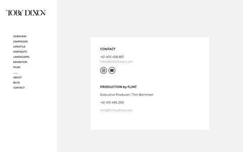 Screenshot of Contact Page tobydixon.com - Contact - Toby Dixon - captured Nov. 15, 2019