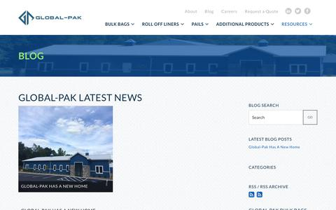 Screenshot of Blog global-pak.com - Blog   Global-Pak - captured Nov. 9, 2016