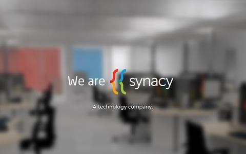 Screenshot of Home Page synacy.com captured Feb. 22, 2016