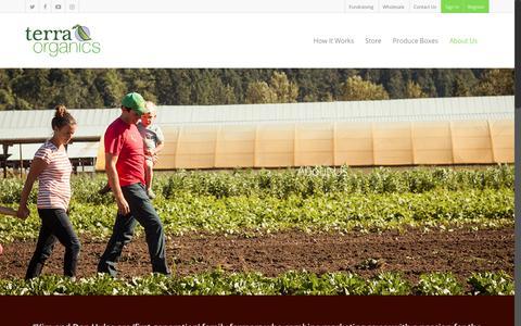 Screenshot of About Page terra-organics.com - About Us - Terra Organics - captured Nov. 8, 2017