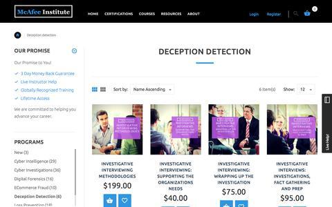 Deception Detection | McAfee Institute