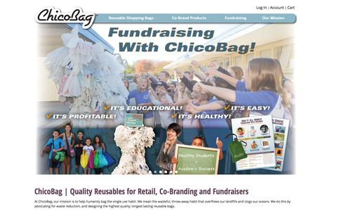 Screenshot of Home Page chicobag.com - ChicoBag | Compact Reusable bags, packs, and totes - captured Oct. 2, 2015