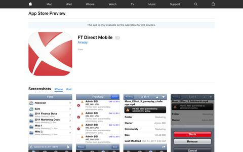 FT Direct Mobile on the AppStore