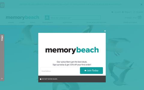 Screenshot of Home Page memorybeach.com - memorybeach.com - captured June 10, 2017