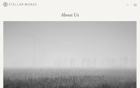 Screenshot of About Page stellarworks.com - About Us - Stellar Works - captured June 17, 2017