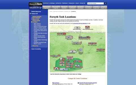 Screenshot of Locations Page forsythtech.edu - Locations | Forsyth Tech - captured Sept. 16, 2014