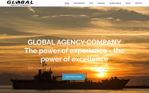 Screenshot of Home Page gacgibraltar.com - Home | Global Agency Company | Specialist Shipping & Associated Services - captured Sept. 28, 2018