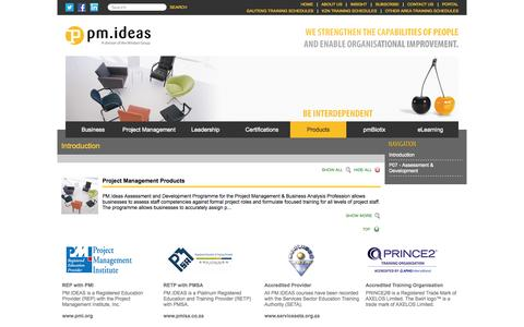 Screenshot of Products Page pm-ideas.net - PM.Ideas - Project Management, Leadership & Business Skills Global Training Provider  : Products - captured Oct. 1, 2014