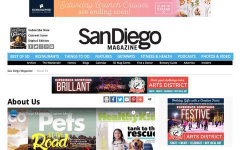 Screenshot of About Page sandiegomagazine.com - About Us - San Diego, California - captured Nov. 6, 2018