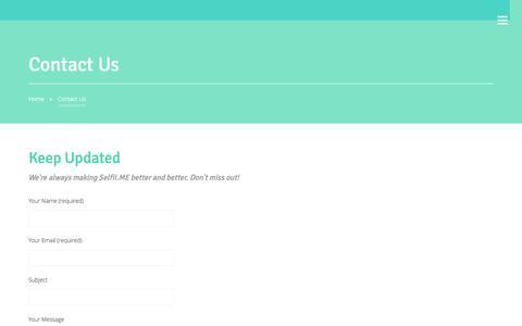 Screenshot of Contact Page selfii.me - Contact SelfiiME - captured Nov. 2, 2014