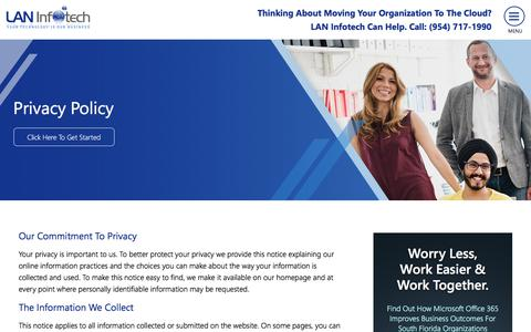 Privacy Policy - Fort Lauderdale IT Company