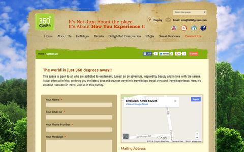 Screenshot of Contact Page 360dgreen.com - 360 Degree Green | Contact Us - captured Nov. 5, 2014