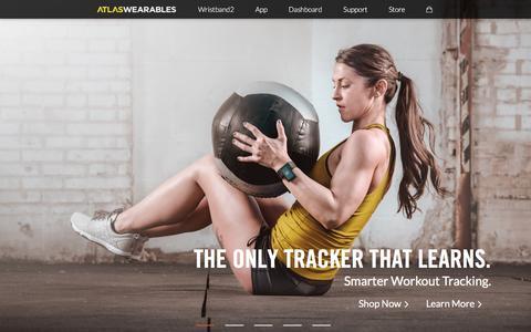 Screenshot of Home Page atlaswearables.com - Atlas Wearables | Atlas Wristband | Fitness Tracker - captured Oct. 6, 2016