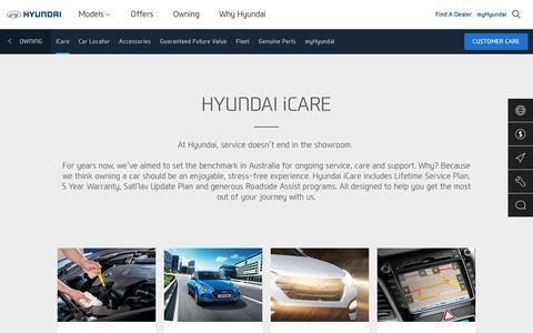 Hyundai iCare - Owning A Hyundai - Hyundai Australia