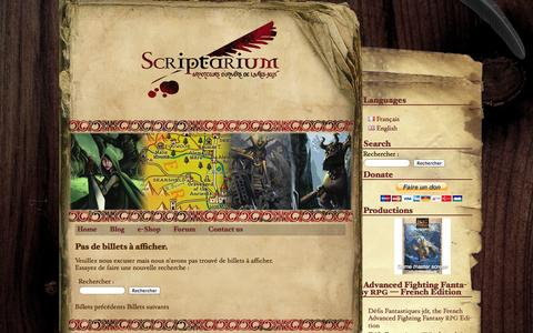 Screenshot of Blog scriptarium.fr - Scriptarium | Blog - captured Oct. 29, 2014