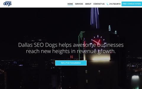 Screenshot of Home Page seodogs.com - Dallas SEO Dogs: Search Engine Marketing, Dallas SEO & PPC Services - captured July 21, 2018