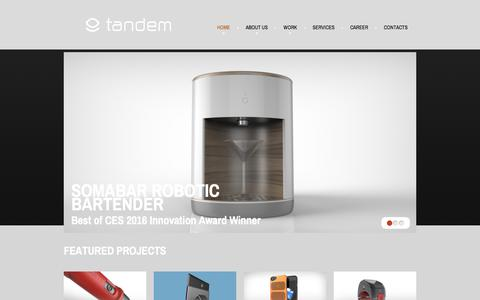 Screenshot of Home Page Privacy Page tandem-design.com - Los Angeles Industrial Design; Orange County Product Development; Award Winning ID; Mechanical Engineering Service: Tandem Product Design - captured July 9, 2018
