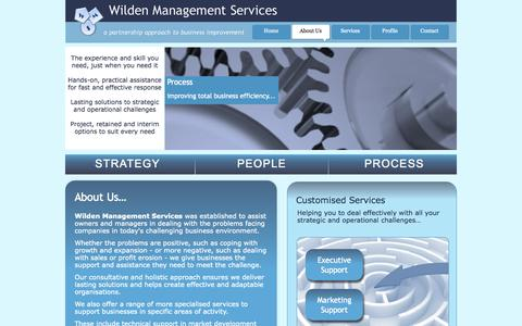 Screenshot of About Page wilden-ms.com - Wilden Management Services - Page 2 - captured Oct. 26, 2014