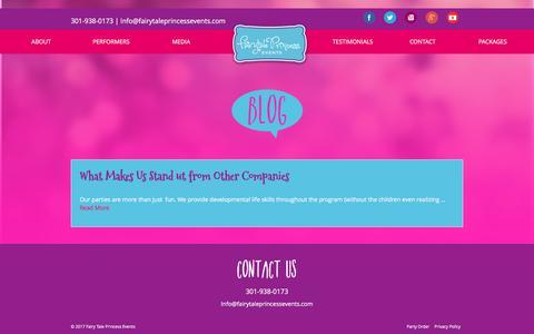 Screenshot of Blog fairytaleprincessevents.com - Blog – Fairy Tale Princess Events - captured June 6, 2017