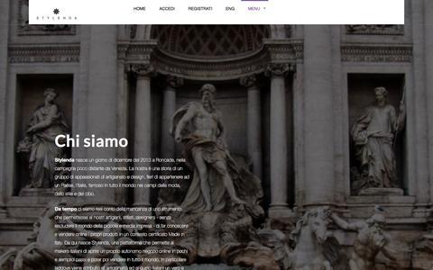 Screenshot of About Page stylenda.com - Chi siamo | Stylenda | E-commerce Platform - captured Dec. 6, 2016