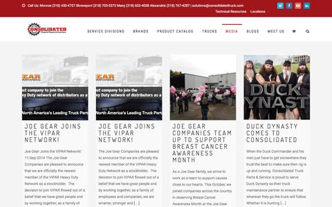Screenshot of Press Page consolidatedtruck.com - News - Consolidated Truck Parts & Service - captured Oct. 8, 2016
