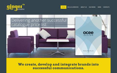 Screenshot of Home Page ginger-creative.com - Creative Design Agency Northampton   Ginger Creative - captured July 21, 2015