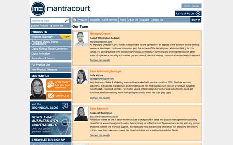 Screenshot of Team Page mantracourt.com - Our Team - captured Oct. 2, 2018